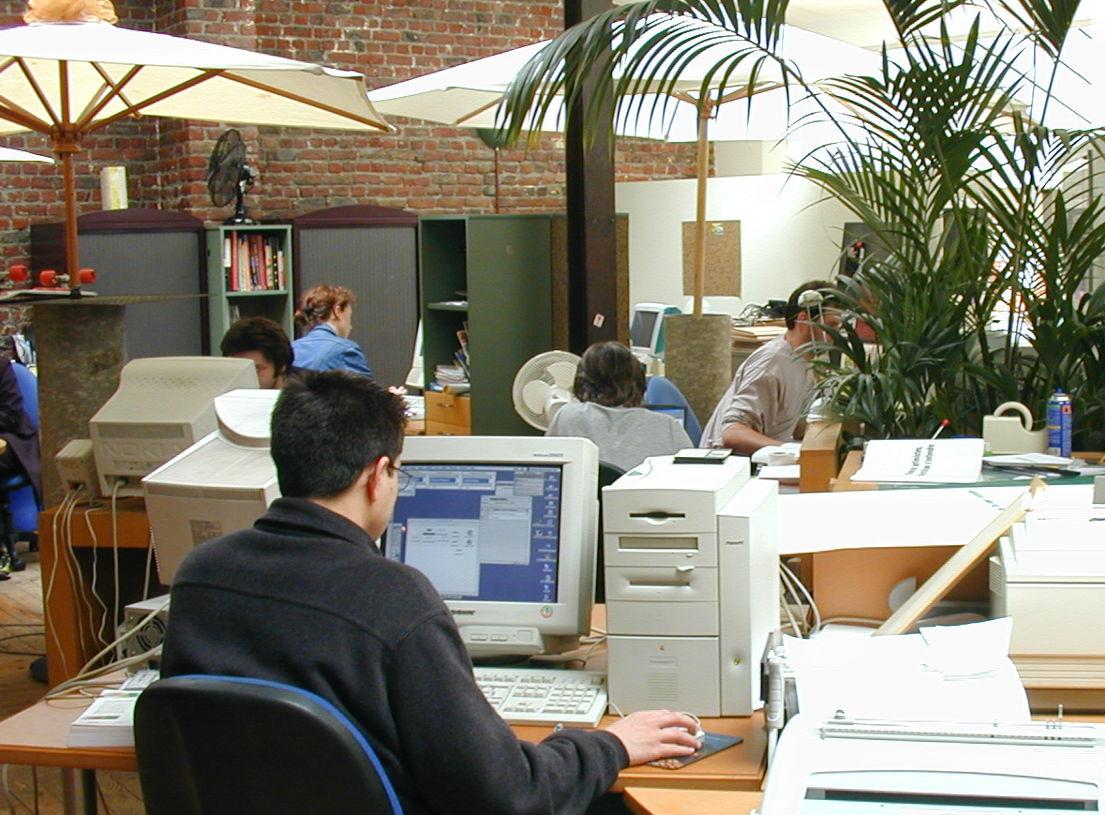 Het kantoor van Ex Machina in 1995