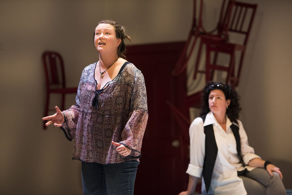 Jennifer Paterson and Sarah Donald star in Mom's the Word / Photos by Emily Cooper