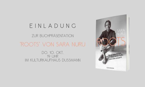 """Sara Nuru - exklusive Buchpremiere von """"Roots"""" am 10. Oktober 2019"""