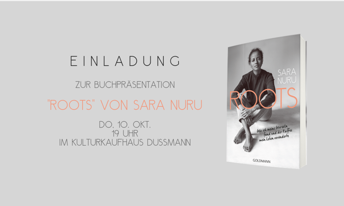 "Preview: Sara Nuru - exklusive Buchpremiere von ""Roots"" am 10. Oktober 2019"