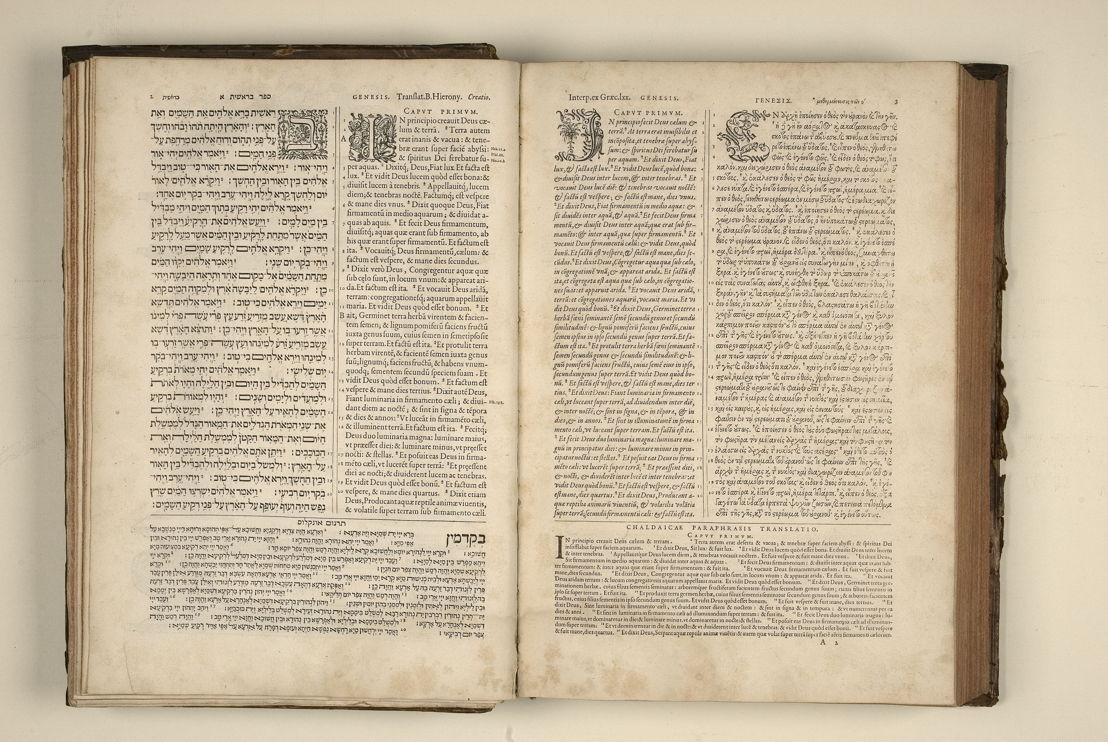Biblia sacra, Hebraice, Chaldaice, Graece, & Latine, Antwerpen, Christoffel Plantin, 1568-1573, 1