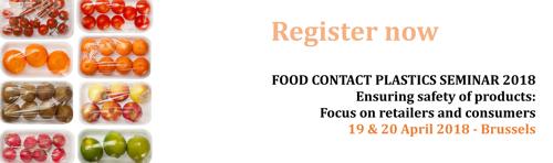 Registrations now open: Food Contact Plastics Seminar 2018