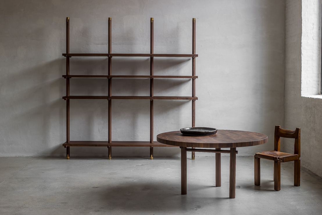 The Belgian interior architect Nathalie Deboel presents her first furniture collection, Nomad