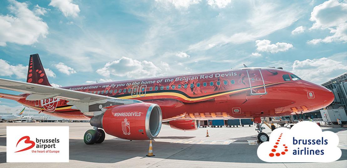 Brussels Airlines, compagnie aérienne officielle des Diables Rouges et des Red Flames