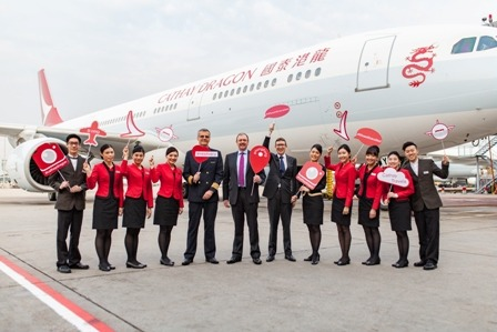 Mit Cathay Dragon zu über 20 Zielen in China