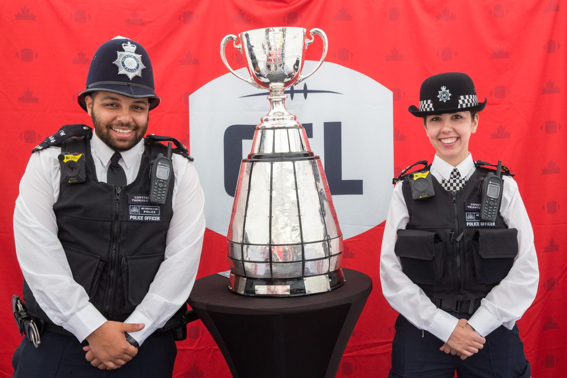 The Grey Cup with Metropolitan Police. Photo Credit: Jim Ross/CFL