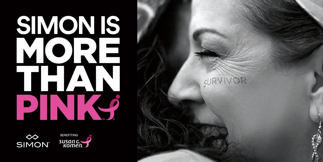 ATLANTA-AREA SIMON CENTERS GO MORE THAN PINK™ WITH  SUSAN G. KOMEN® TO REDUCE BREAST CANCER DEATHS BY 50 PERCENT  IN THE NEXT 10 YEARS