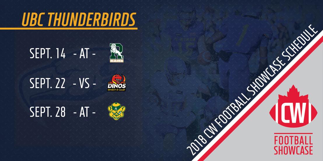2018 UBC Thunderbirds CW Football Showcase schedule
