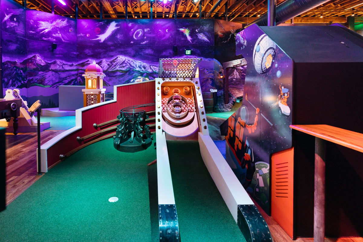 Try your luck on the skee-ball hole at Urban Putt! Photo credit: Brittni Bell Photo