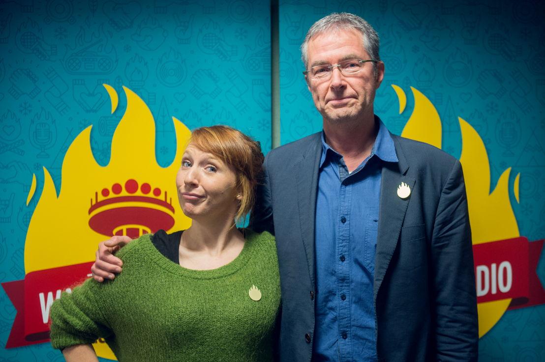 Linde Merckpoel (Studio Brussel) & Jan Hautekiet (Radio 1) - (c) VRT/Jokko