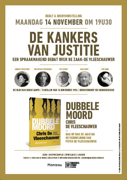 Uitnodiging debat 'De Kankers van Justitie' - 14 november 2016