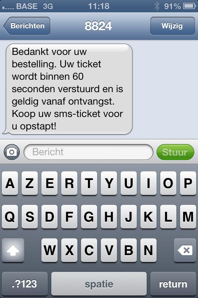 Sms-ticket dat vertraagd wordt afgeleverd om zwartrijders te ontmoedigen die hun aanvraag-sms pas versturen als ze een controleur zien.