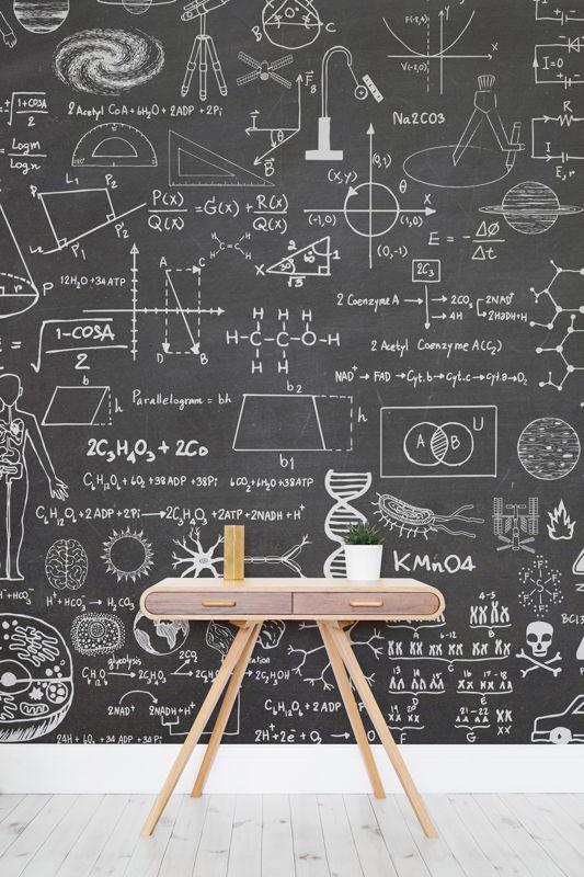 Science - Chalkboard Wallpaper Mural