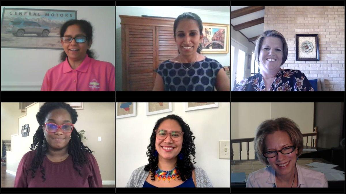Clockwise from top left: Anbu Subramaniyan, Sabari Raja, Andi McNair, Jennifer Harrison, Ana Porras, Nicole Jackson