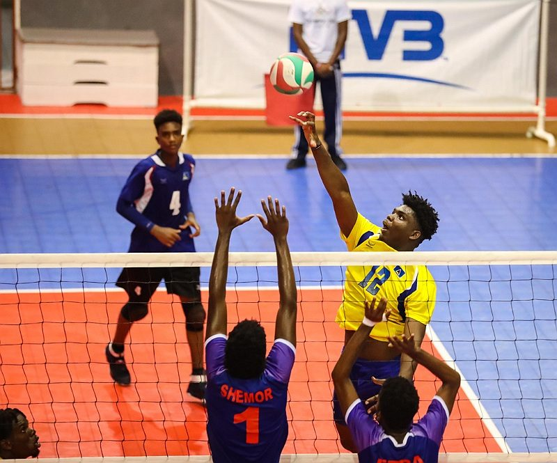 Joshua Florent LCA pictured in yellow Photo courtesy NORCECA