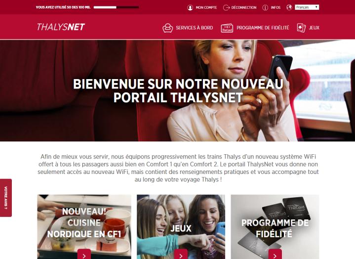 ThalysNet, de nieuwe portal van Thalys