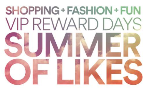 North Georgia Premium Outlets celebrates shoppers with launch of VIP Reward Days: Summer of Likes