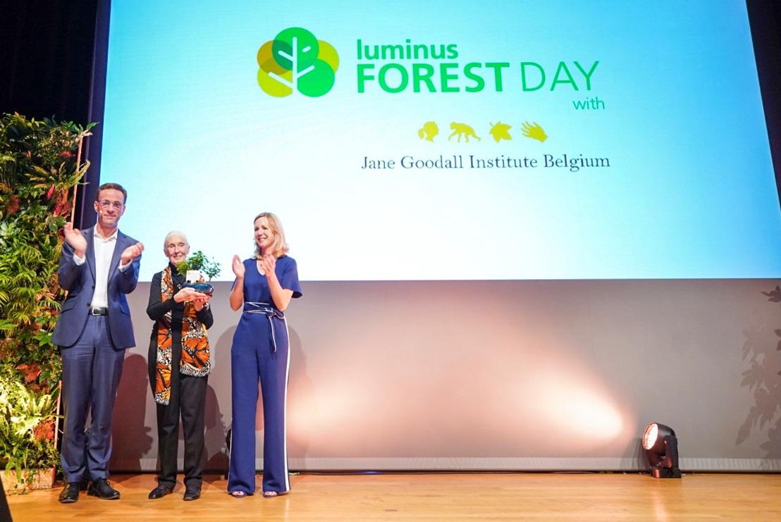 Luminus & Jane Goodall Institute Belgium planteront ensemble plus de 3,6 millions d'arbres