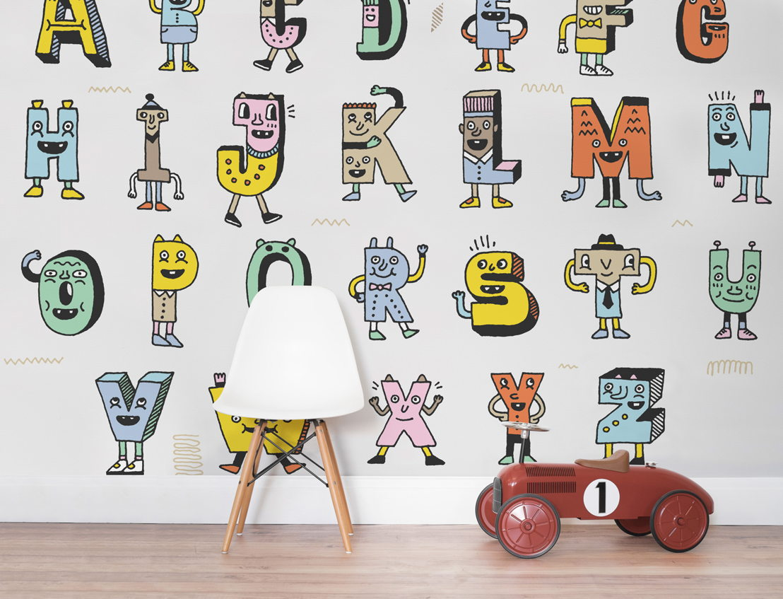 Literacy - Learn Your A-Z's Wallpaper Mural
