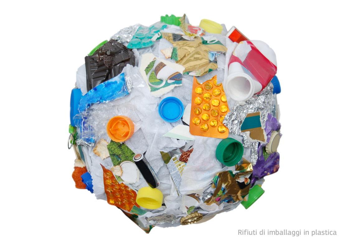 Rifiuti di imballaggi in plastica