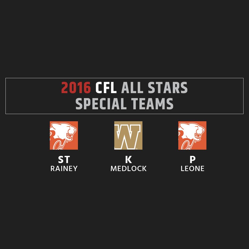 2016 CFL All-Stars - Special Teams