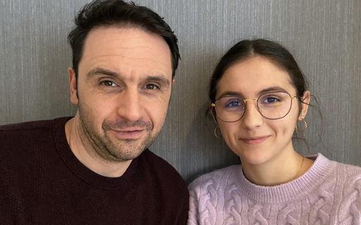 Papa Michaël en dochter Romi studeren samen verpleegkunde in Turnhout