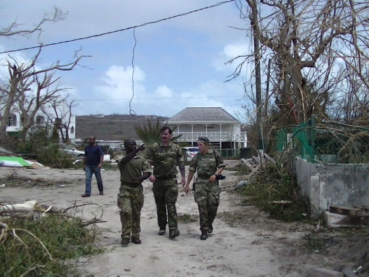 The British military have arrived on the territory of Anguilla. © Sky News