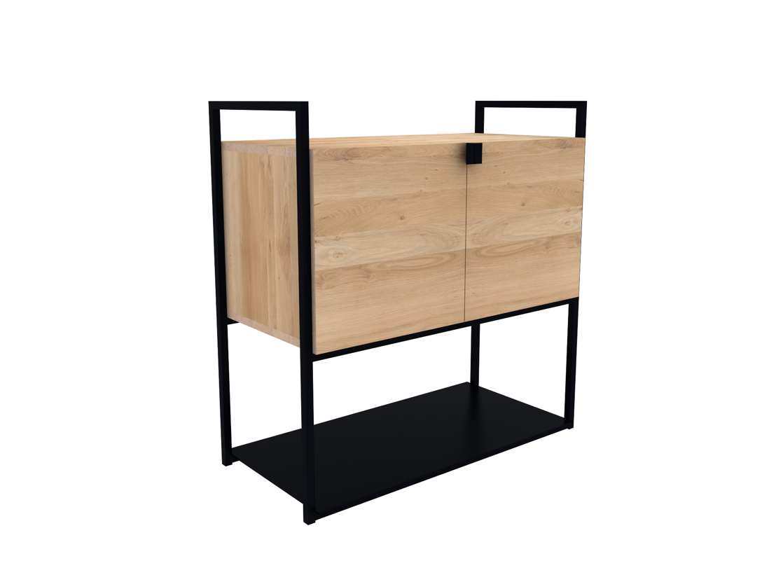 Oak Cell Unit Sideboard