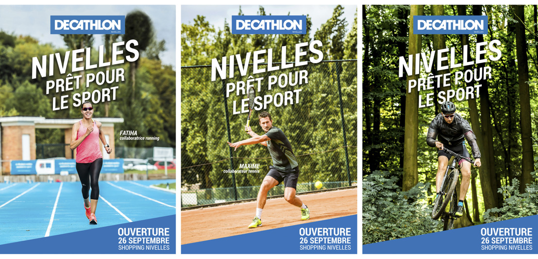 Le 1er Decathlon situé dans un shopping ouvre ce mercredi à Nivelles