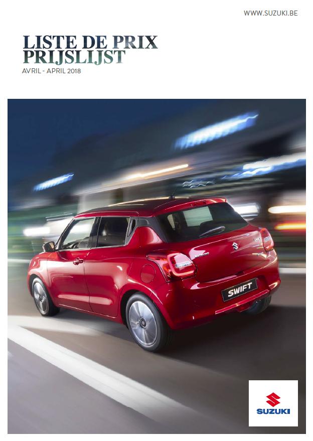 Prijslijst Suzuki april 2018