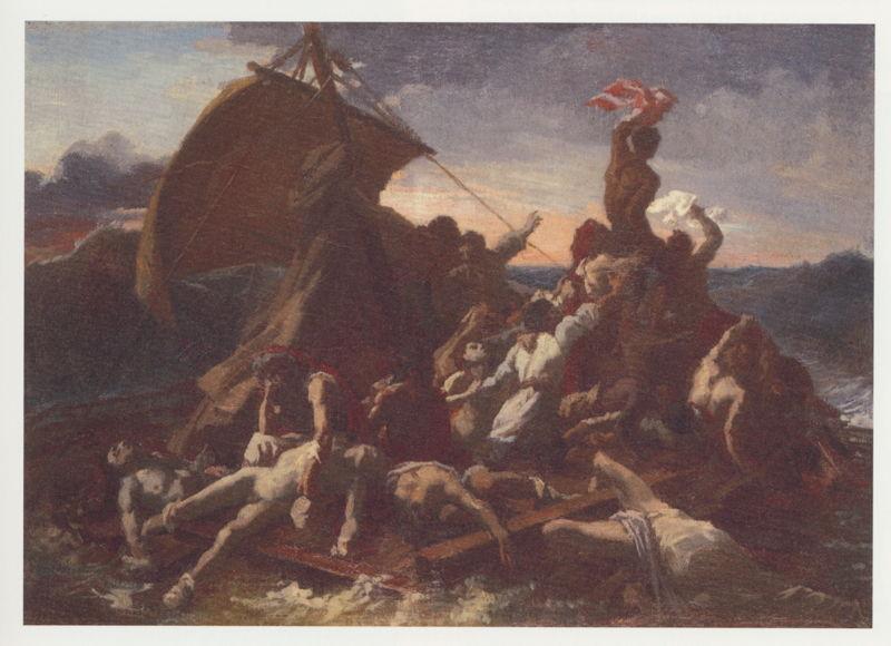 Géricault, Het vlot van Medusa - vierde studie, 1819-20, Musée des Beaux-Arts, Angers