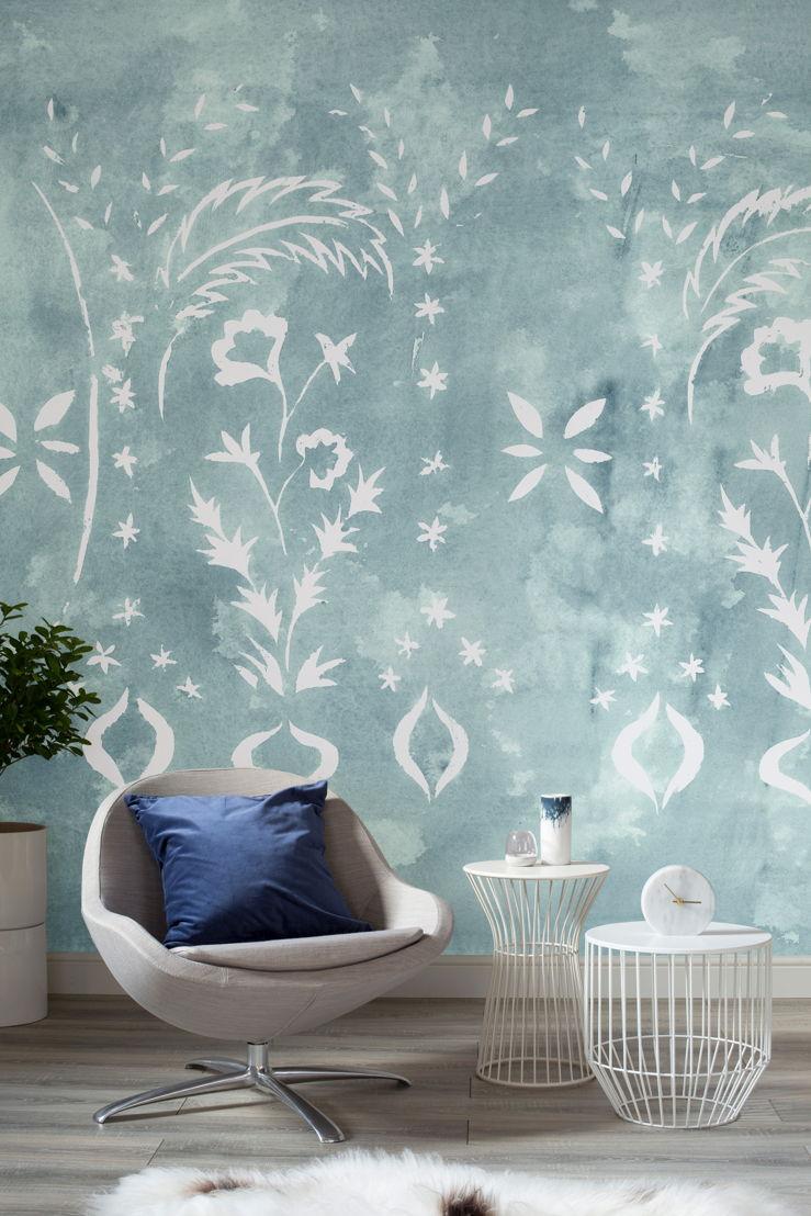Floral Stencil Jade - Lifestyle