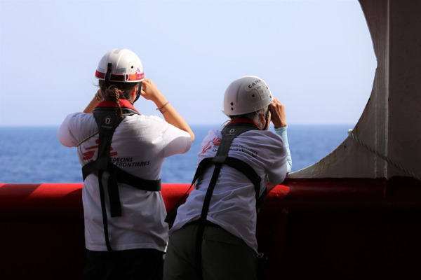 Preview: SOS MEDITERRANEE and MSF call for rescue survivors to be allowed disembarkation in a place of safety