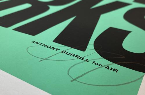 Air giet nieuw credo in beton (op papier) met Anthony Burrill