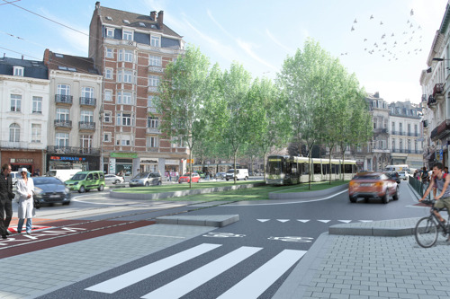 Square Vanderkindere and Churchill-roundabout reconstructed