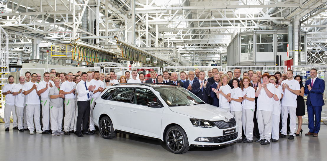 ŠKODA has produced the 500,000th third-generation FABIA in Mladá Boleslav today. At the same time, the manufacturer is celebrating another milestone: the four millionth ŠKODA FABIA since the series debuted in 1999.