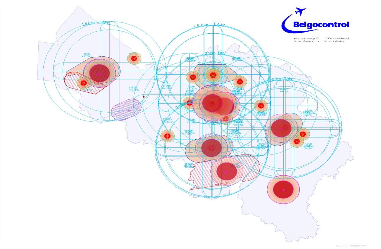 De nieuwe overzichtskaart van Belgocontrol