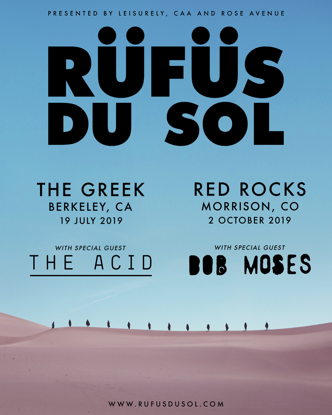 Rufus Du Sol Announce Shows At The Greek Theatre And Red Rocks