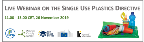 Preview: Live Webinar on the Single Use Plastics Directive - Register Now!