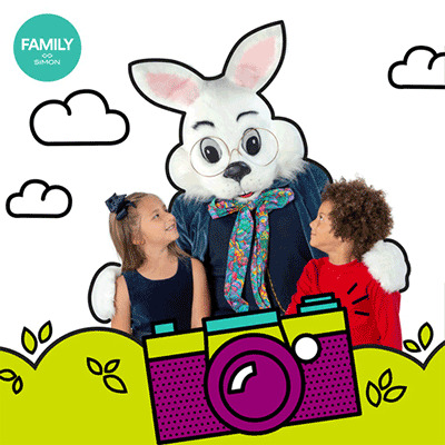 Easter Bunny Photo Experience at Town Center at Cobb for one more week