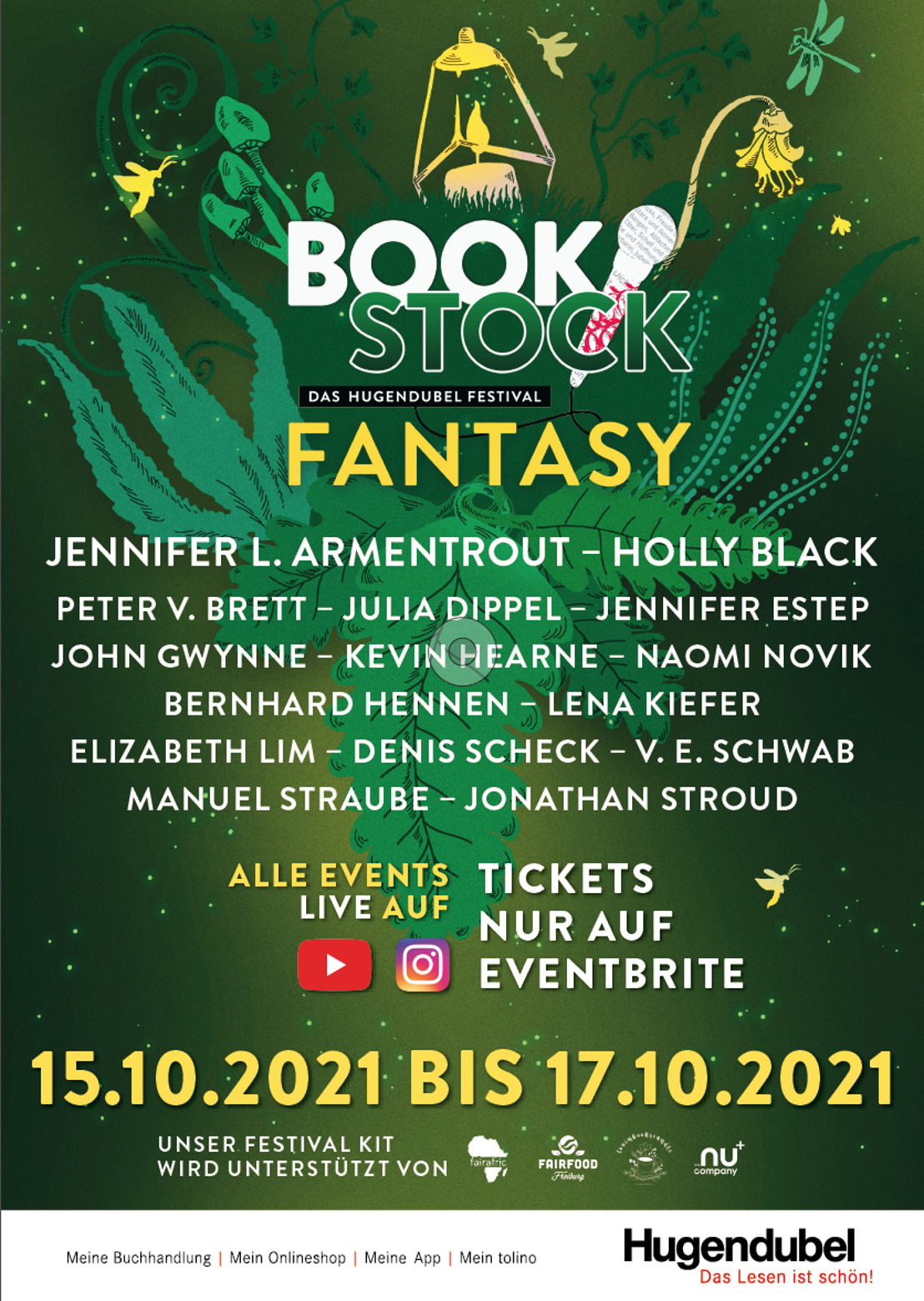 Hugendubel startet zweites digitales BOOKSTOCK-Festival