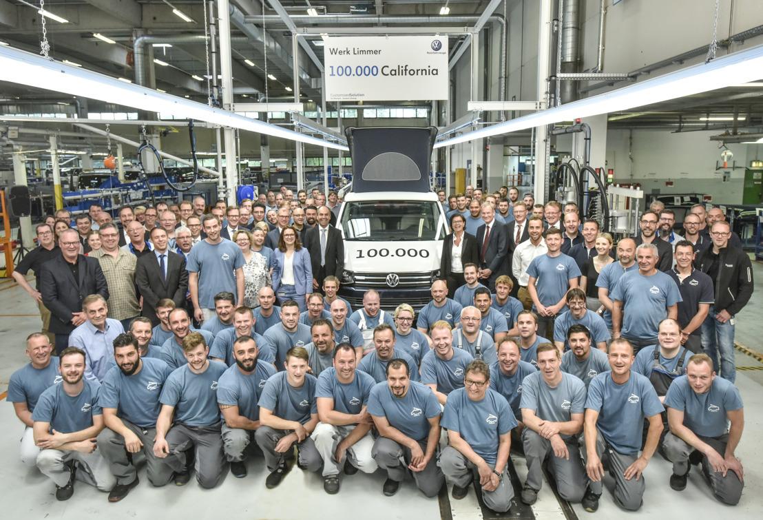 Volkswagen Bedrijfsvoertuigen produceert 100.000ste California