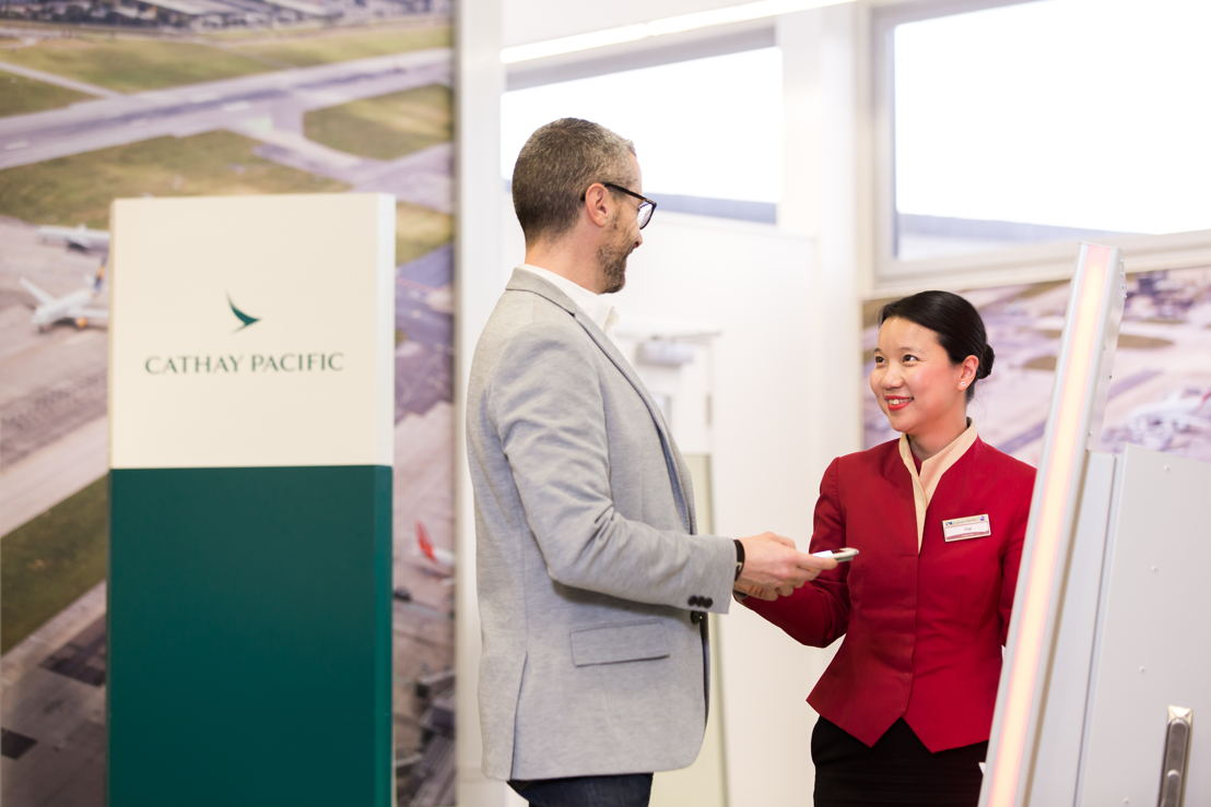 """New technology enables Cathay Pacific staff to interact more proactively with our customers and deliver better on our brand promise of a Life Well Travelled,"" says Cathay Pacific General Manager Europe, James Ginns."
