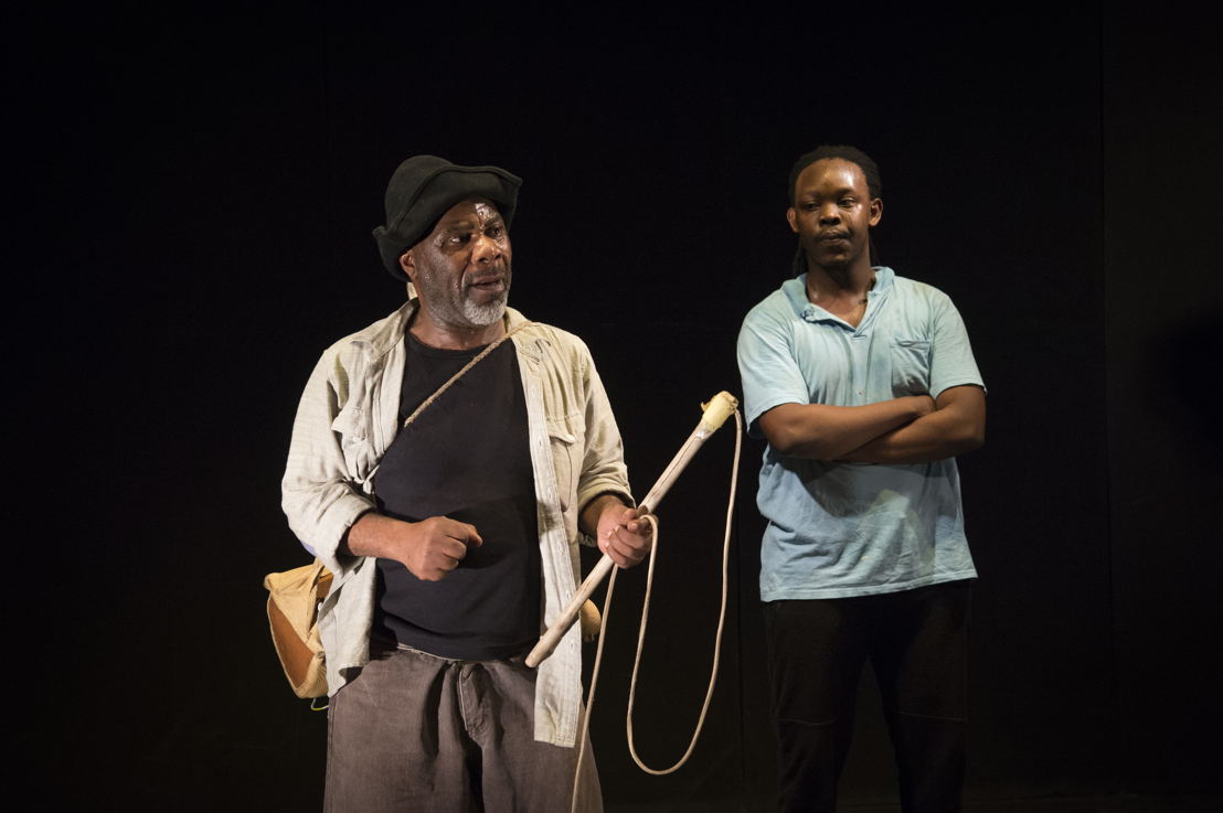 Nhlanhla Mkhwanazi and Motheo Madisa in Cattle Drive, image Jan Potgieter