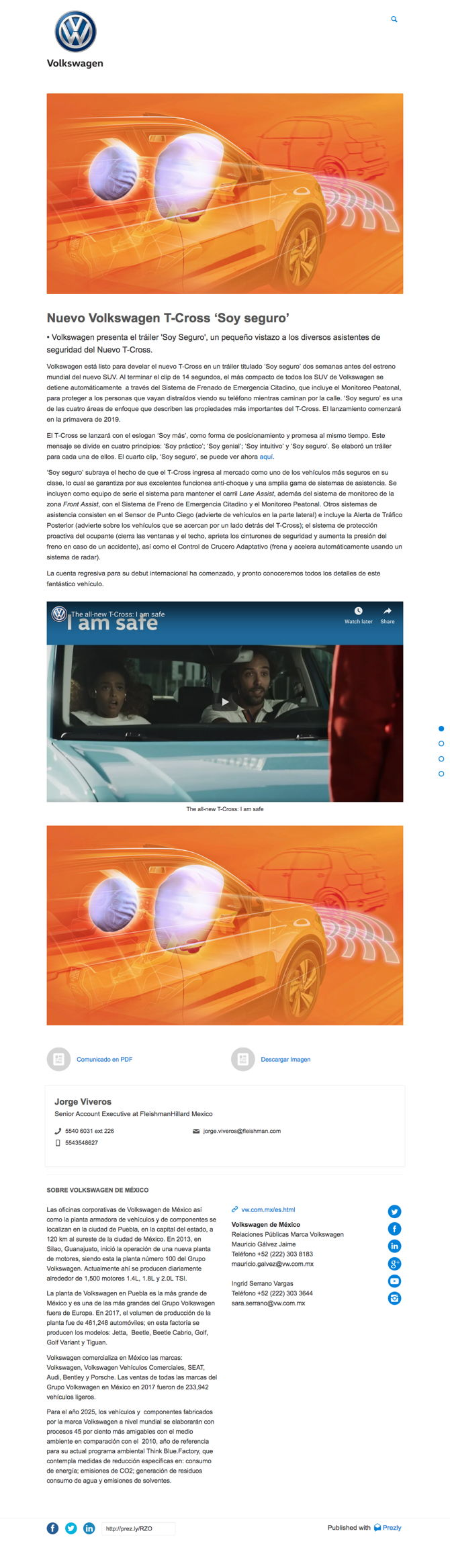 Nuevo Volkswagen T-Cross 'Soy seguro'