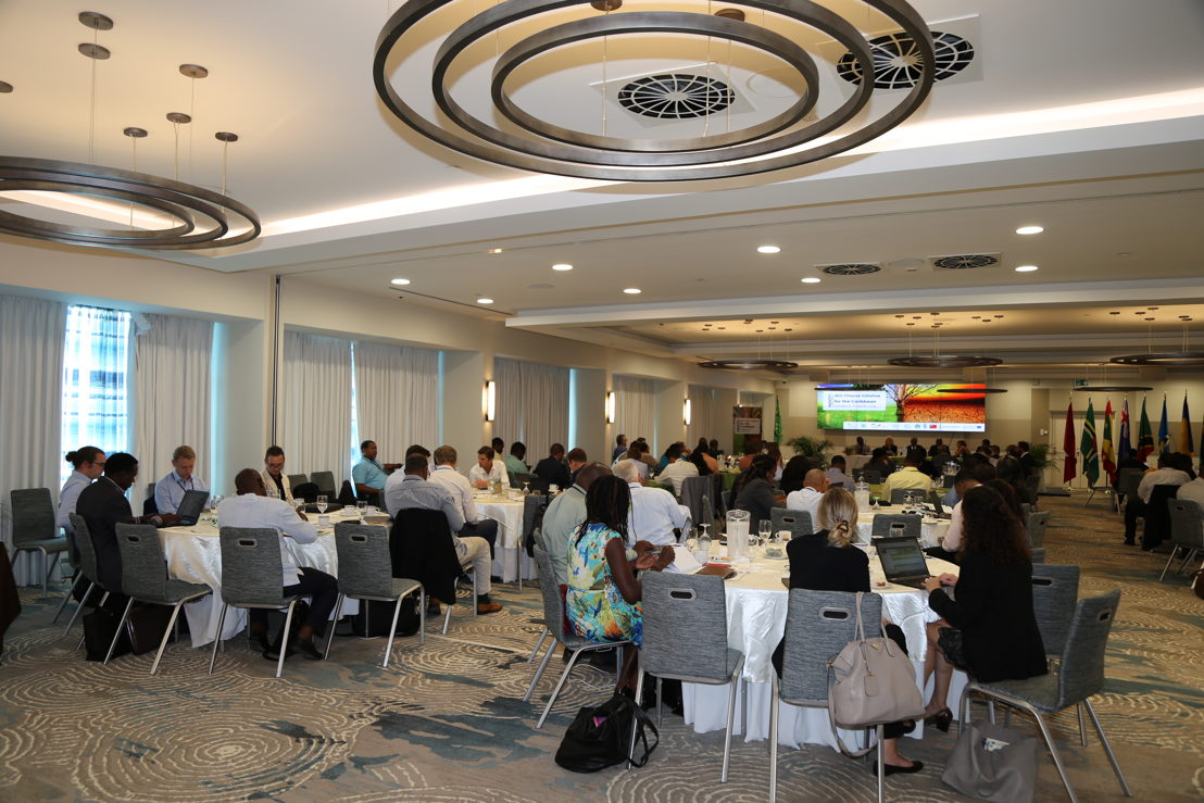 Distinguished delegates and guests at the Caribbean's First Investment Forum under the Caribbean Nationally Determined Contribution Finance Initiative (NDC FI)