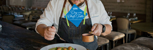 Annabelle Gurwitch and chef Amar Santana partner with Lung Cancer Foundation of America (LCFA) for Day at the Chef's Table in support of lung cancer research