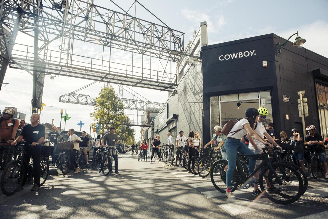 Cowboy verovert de straten tijdens autoloze zondag in Brussel