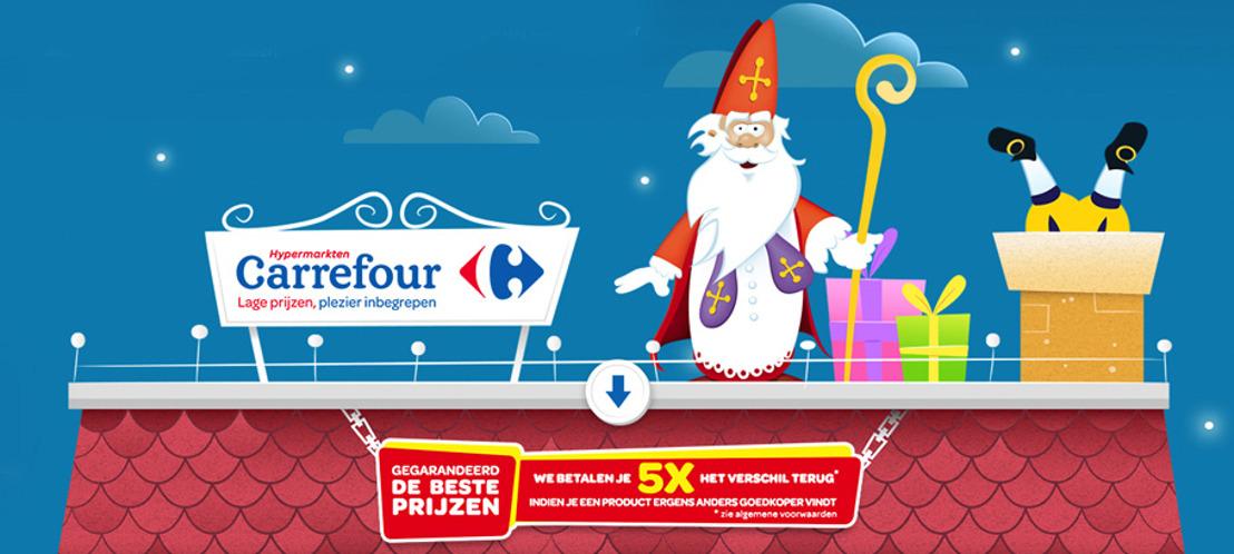 Prophets verstopt mijter op Carrefour Sinterklaas-site