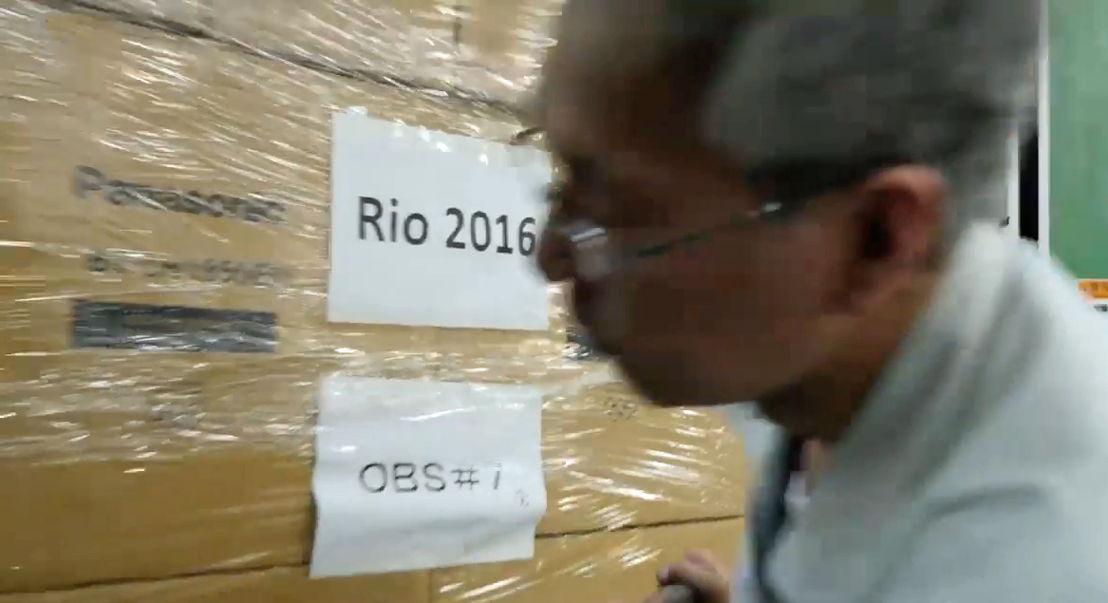 JJOO Río 2016 Embarque Equipo Panasonic